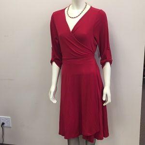 ModCloth red wrap dress